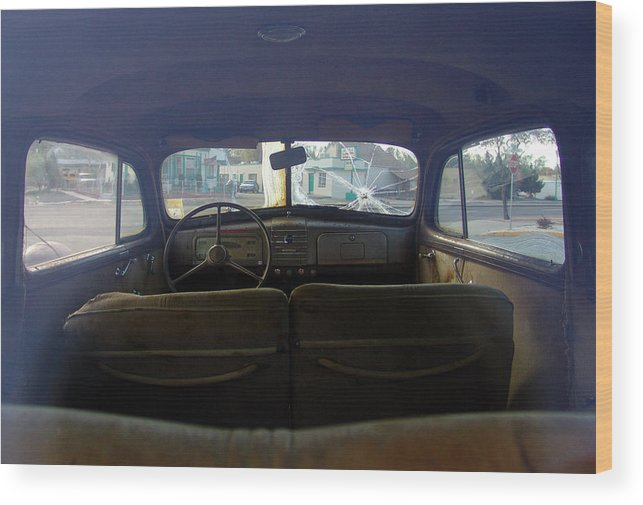 Classic Cars Wood Print featuring the photograph Bonnie and Clyde by Carol Milisen
