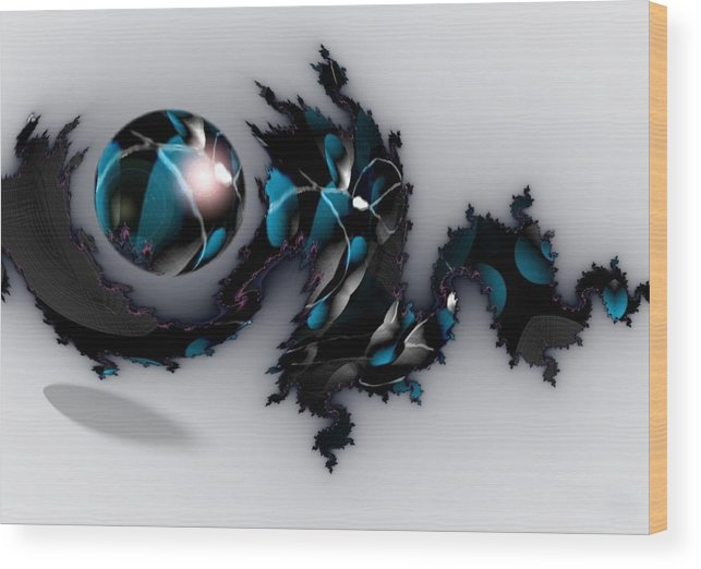 China Dragon Rythm Float Dance Wood Print featuring the digital art China Dragon by Veronica Jackson