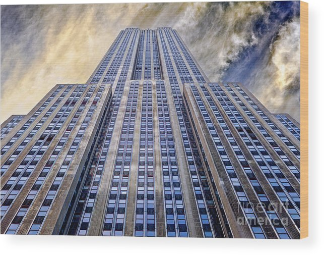 Empire State Building Wood Print featuring the photograph Empire State Building by John Farnan