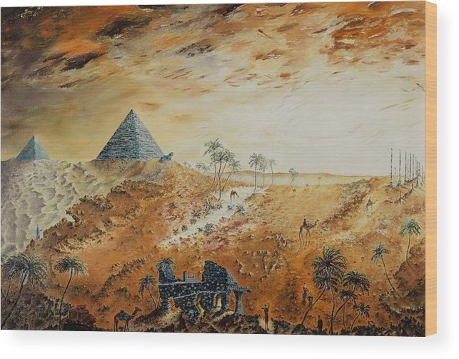 Egypt Wood Print featuring the painting Eternity by Richard Barham