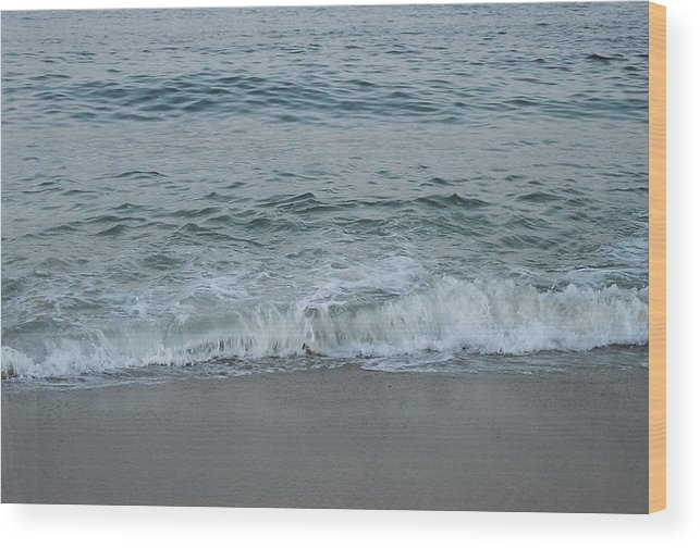 Ocean Wood Print featuring the photograph Evergreen Sea Charlestown R.I. by Cheryl Martin