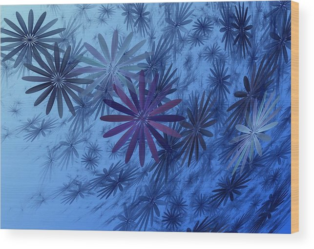 Digital Photography Wood Print featuring the digital art Floating Floral-010 by David Lane