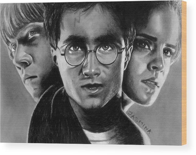 Harry Potter Fanart Wood Print By Jasmina Susak