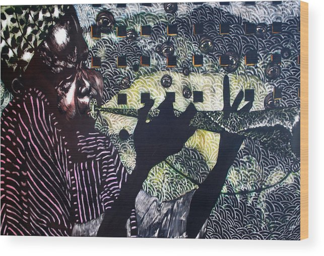 New Age Wood Print featuring the mixed media Herald of A New Age by Chester Elmore