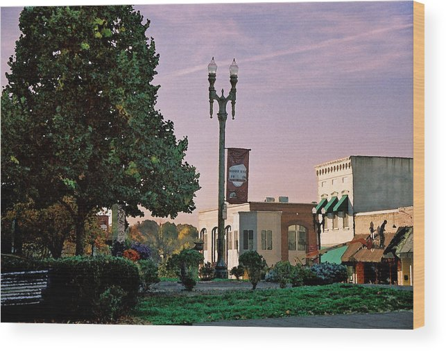Landscape Wood Print featuring the photograph Late Sunday Afternoon by Steve Karol