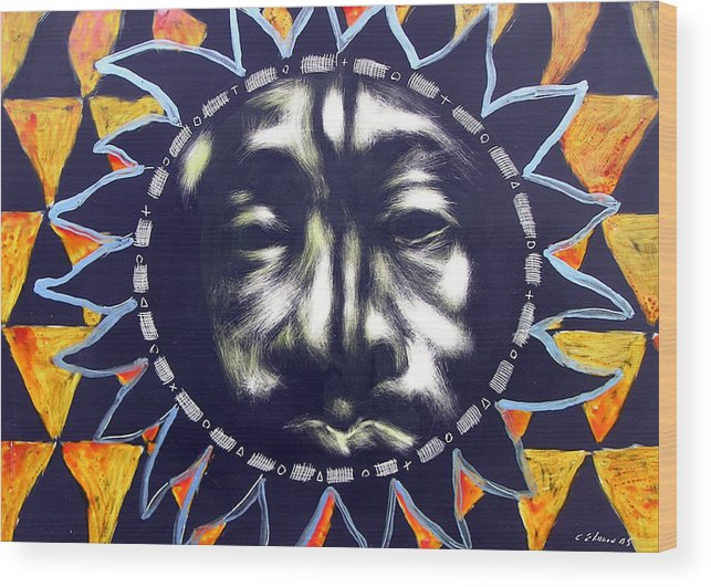 Wood Print featuring the mixed media Oakland Sunshine by Chester Elmore