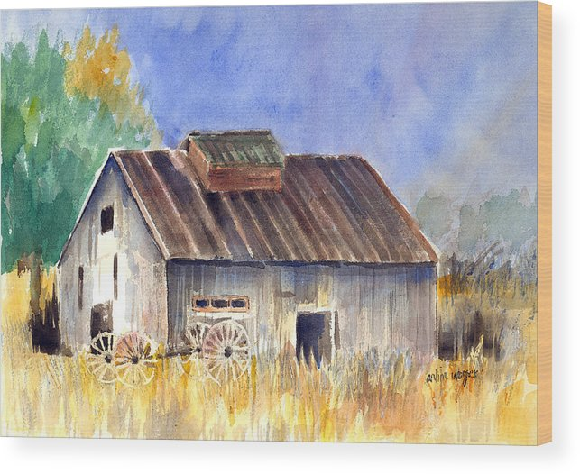 Barn Wood Print featuring the painting Old Barn by Arline Wagner