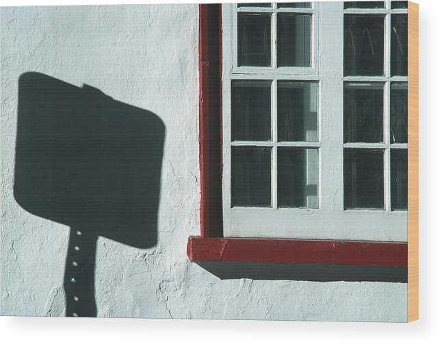 Quebec Wood Print featuring the photograph Quebec Shadow 2 by Art Ferrier