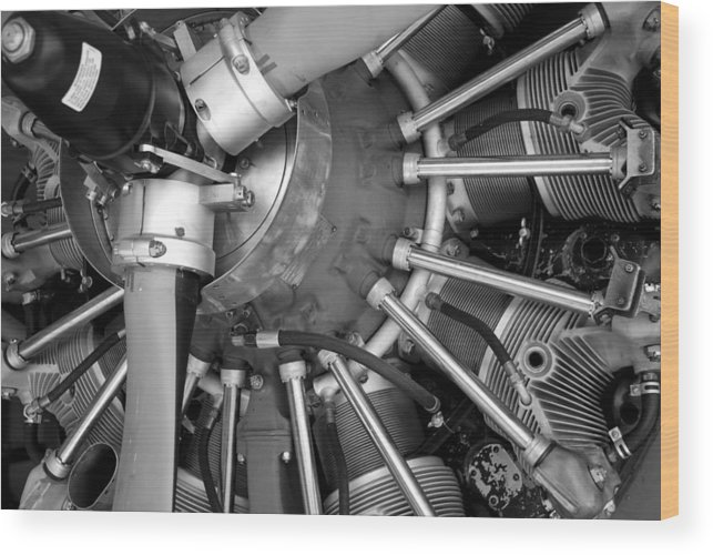 Aircraft Wood Print featuring the photograph Radial Engine by Alasdair Turner