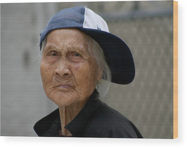 Woman Wood Print featuring the photograph Rappin' Granny by Jason Hochman