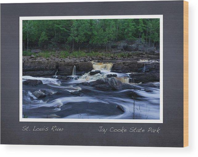 Saint Louis River Wood Print featuring the photograph St Louis River Scrapbook Page 1 by Heidi Hermes