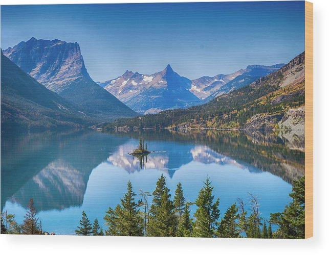 Lake Wood Print featuring the photograph St Mary Lake by Bryan Spellman