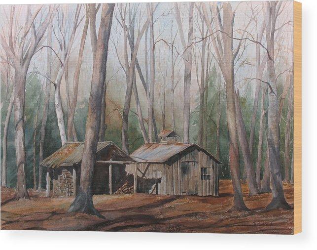 Sugar Shack Wood Print featuring the painting Sugar Shack by Debbie Homewood