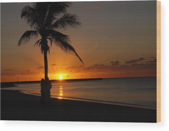 Sunrise Photos In Key West Fl Wood Print featuring the photograph Sunrise in Key West FL by Susanne Van Hulst