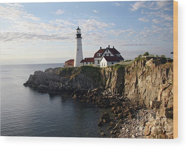 Portland Maine Wood Print featuring the photograph Sunrise over Portland by Brenda Giasson