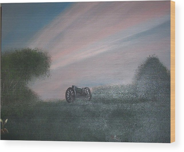 Sunset Wood Print featuring the painting Sunset Canon by Rana Adamchick