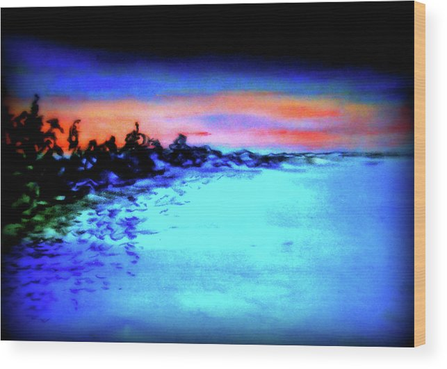 Depth Wood Print featuring the pastel Sunset by Pam Ellis