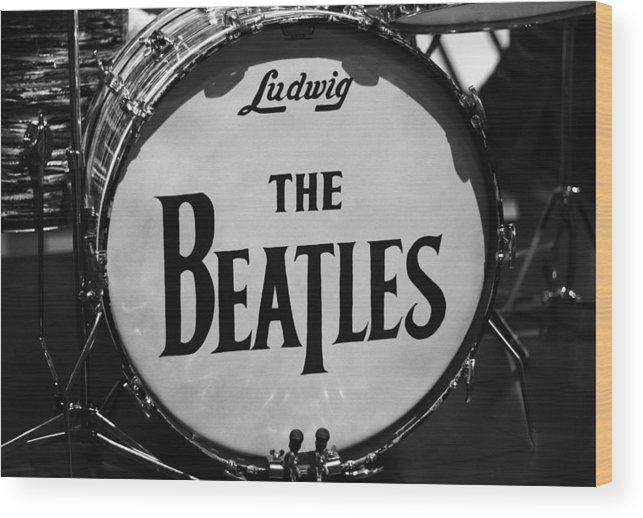 The Beatles Drum Wood Print featuring the photograph The Beatles Drum by Dan Sproul