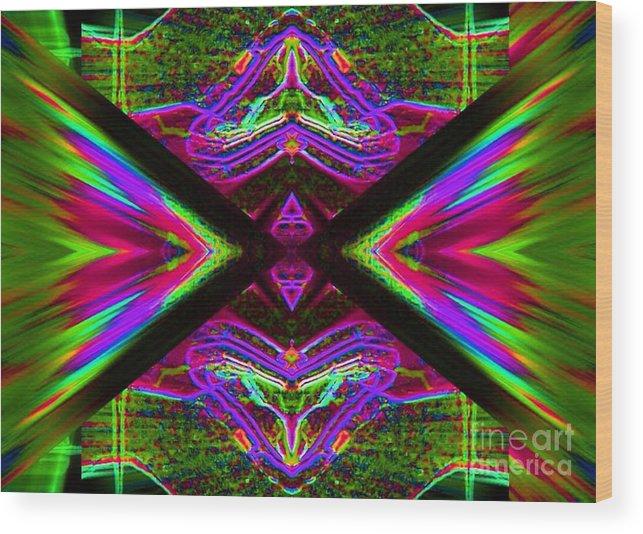 Lorles Lifestyles Wood Print featuring the digital art The Joker by Lorles Lifestyles