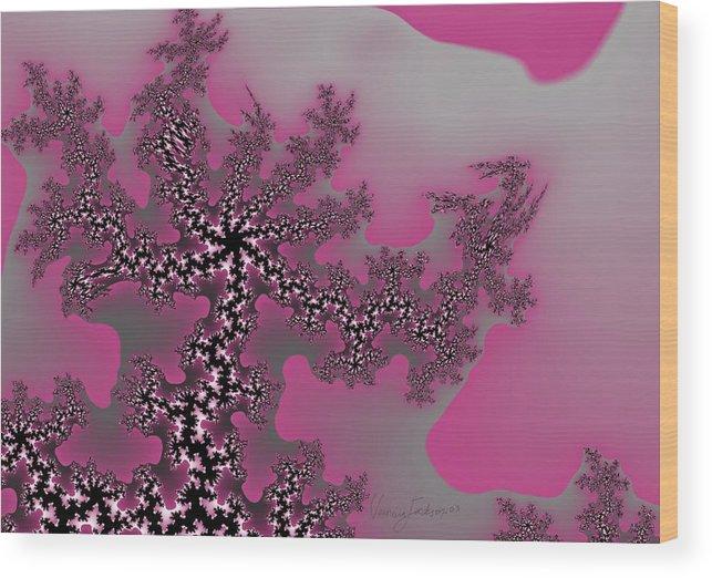 Fractals Tree Nature Oriental Art Wood Print featuring the digital art The oriental tree by Veronica Jackson