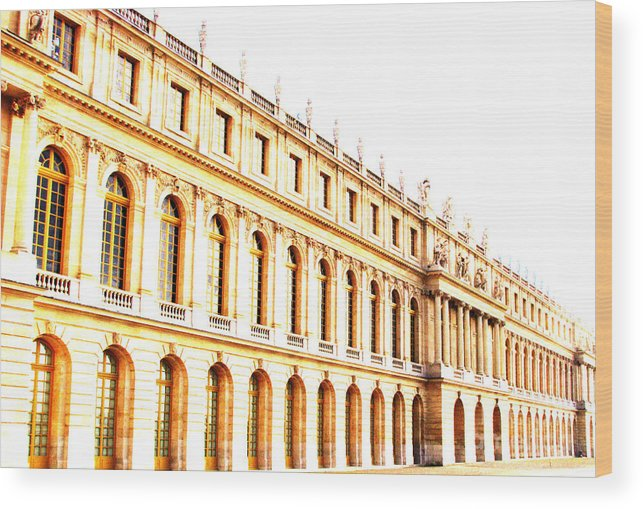 Versailles Wood Print featuring the photograph The Palace by Amanda Barcon