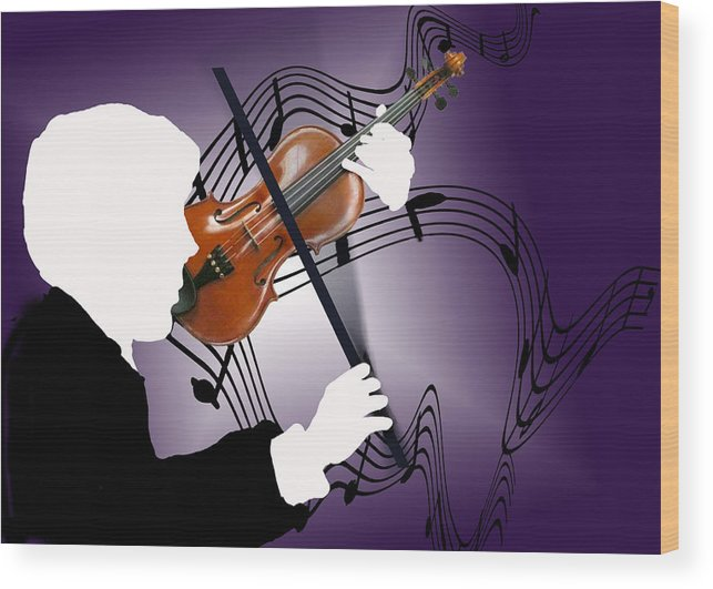 Violin Wood Print featuring the digital art The Soloist by Steve Karol