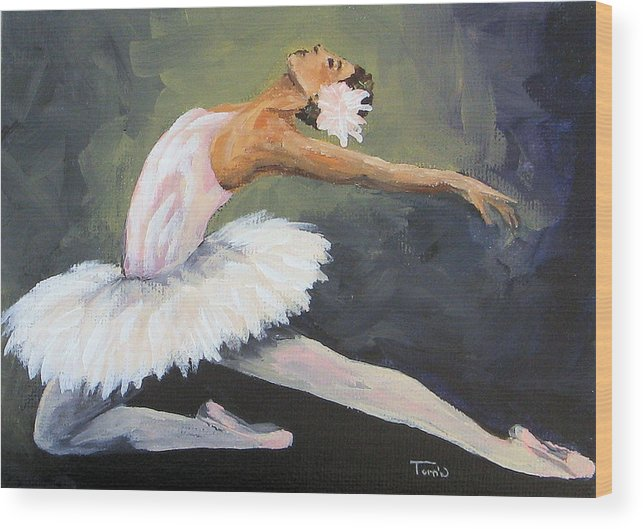 Ballet Wood Print featuring the painting The Swan by Torrie Smiley