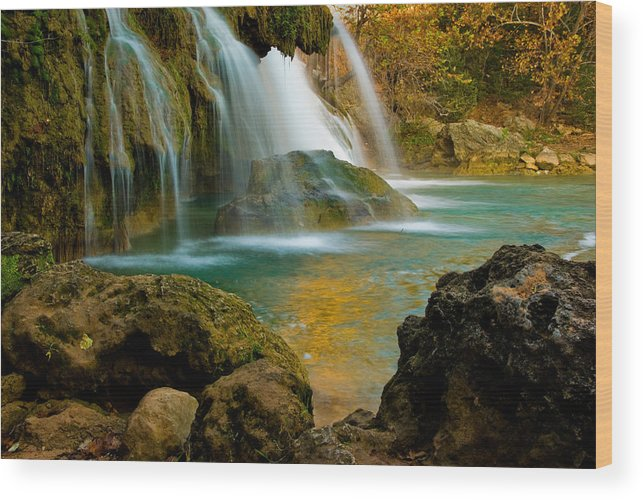Landscape Wood Print featuring the photograph Unite Perspective of Turner Falls by Iris Greenwell