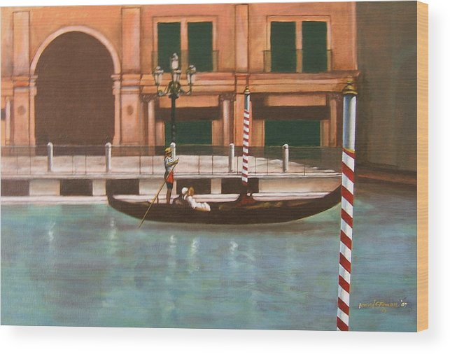 Smooth Sailing Wood Print featuring the painting Venetian Number Two by Howard Stroman