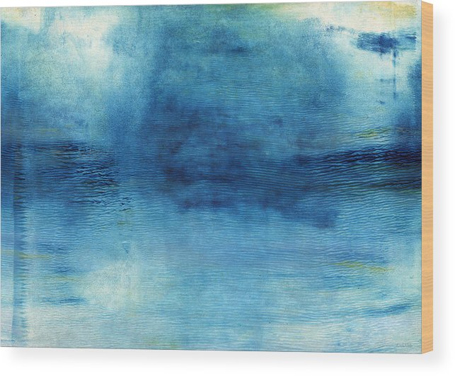 Blue Wood Print featuring the painting Wash Away- Abstract Art by Linda Woods by Linda Woods