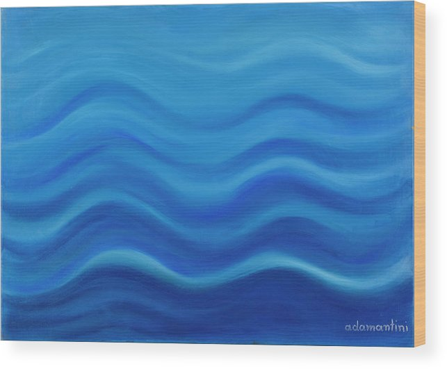 Water Wood Print featuring the painting Water by Adamantini Feng shui