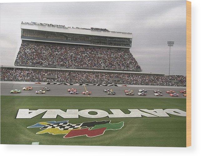 Sport Wood Print featuring the photograph Daytona 500 by David Taylor