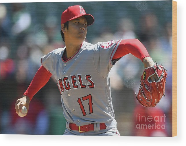 People Wood Print featuring the photograph Los Angeles Angels Of Anaheim V by Thearon W. Henderson