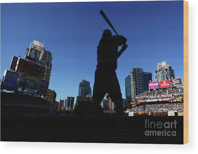 Opening Ceremony Wood Print featuring the photograph Los Angeles Dodgers V San Diego Padres by Donald Miralle