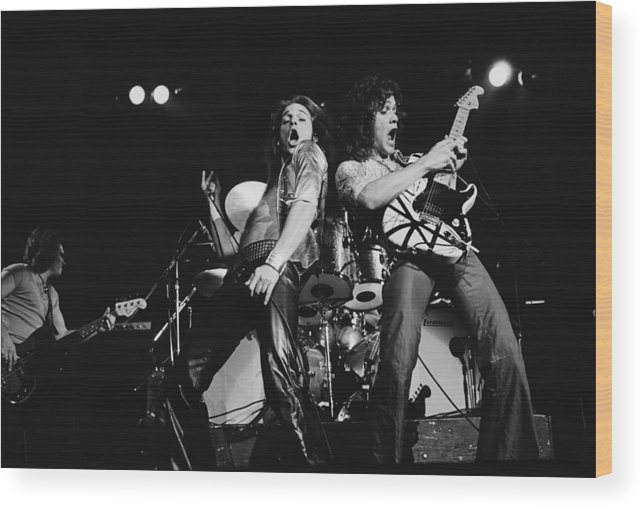 Music Wood Print featuring the photograph Van Halen In Lewisham by Fin Costello