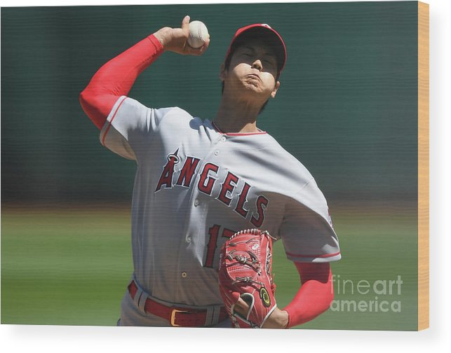 Second Inning Wood Print featuring the photograph Los Angeles Angels Of Anaheim V by Thearon W. Henderson