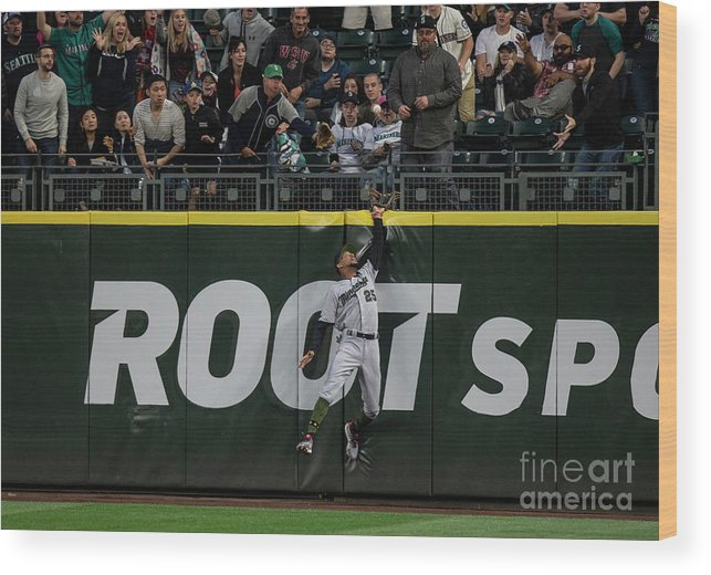 People Wood Print featuring the photograph Minnesota Twins V Seattle Mariners by Stephen Brashear