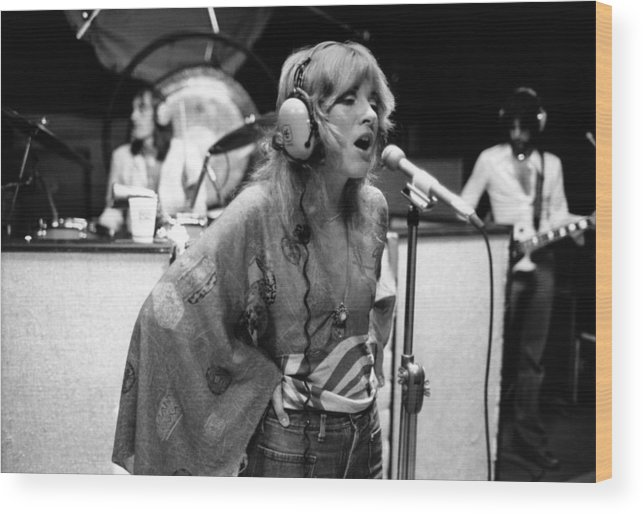 Music Wood Print featuring the photograph Photo Of Stevie Nicks And Fleetwood Mac by Fin Costello