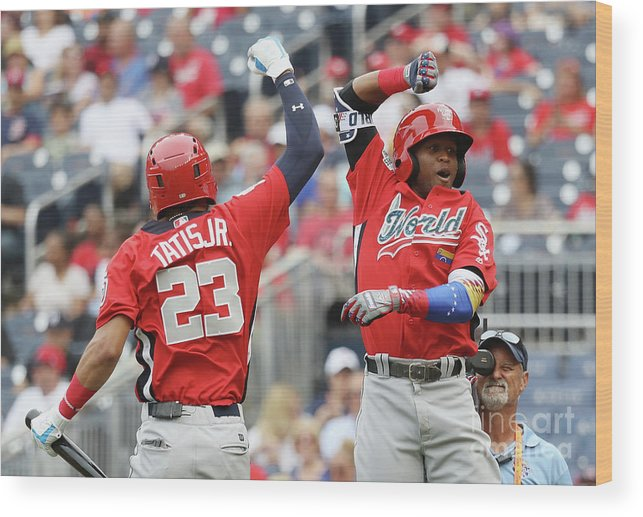 Three Quarter Length Wood Print featuring the photograph Siriusxm All-star Futures Game by Rob Carr