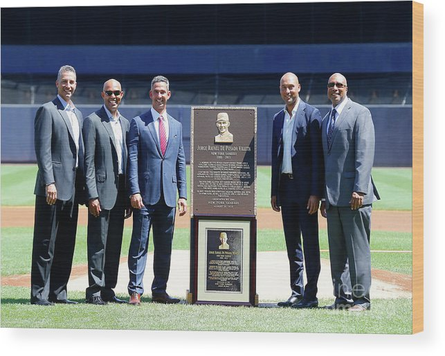 People Wood Print featuring the photograph Cleveland Indians V New York Yankees by Jim Mcisaac