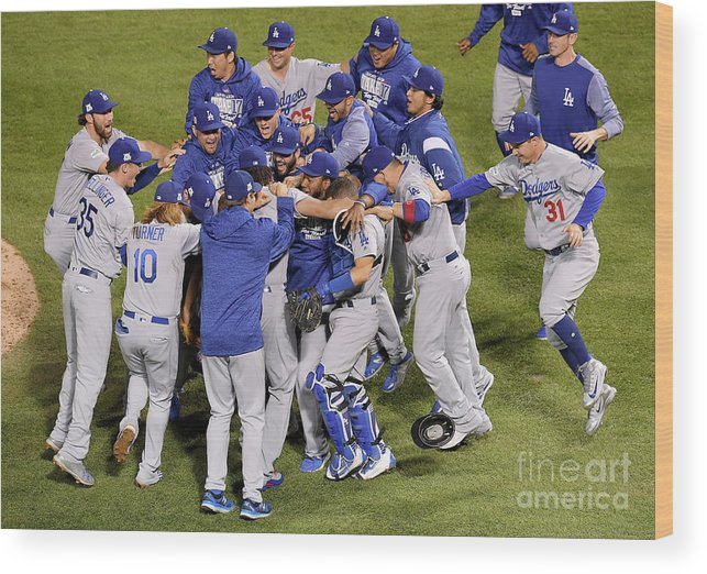Championship Wood Print featuring the photograph League Championship Series - Los by Dylan Buell