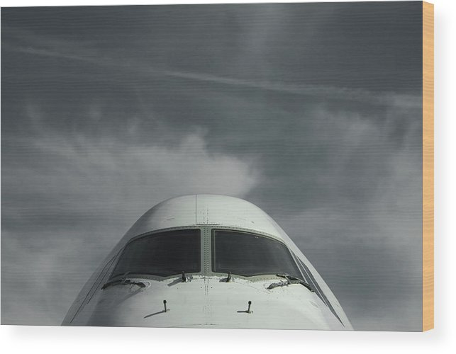 Tranquility Wood Print featuring the photograph Aircraft by Laurent Chantegros