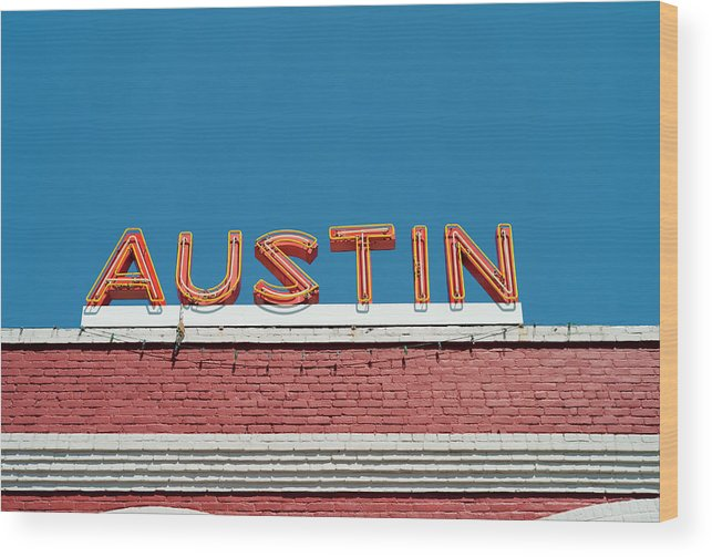 Sunlight Wood Print featuring the photograph Austin Neon Sign by Austinartist