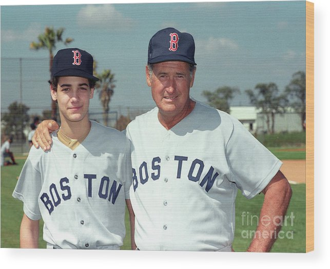 People Wood Print featuring the photograph Baseball - Ted Williams - File Photo by Icon Sports Wire