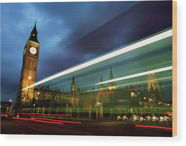 Gothic Style Wood Print featuring the photograph Big Ben And The Houses Of Parliament by Allan Baxter