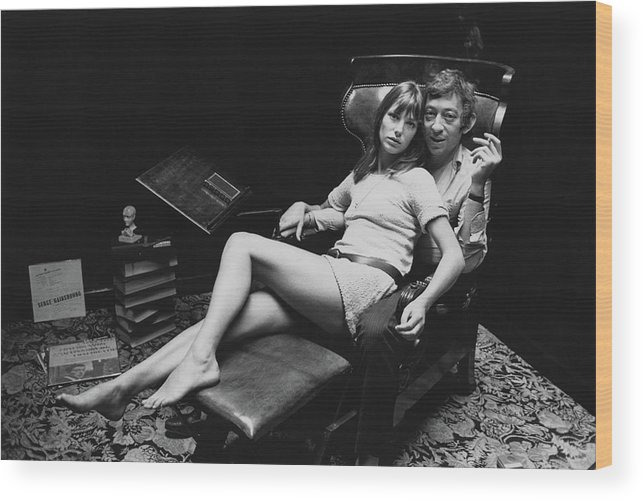 Singer Wood Print featuring the photograph Birkin And Gainsbourg by Reg Lancaster