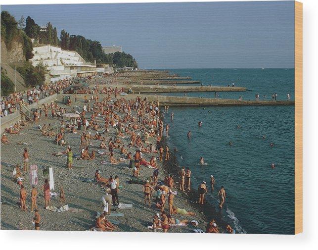 Sochi Wood Print featuring the photograph Black Sea Coast by Harvey Meston