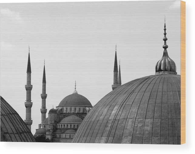 Istanbul Wood Print featuring the photograph Blue Mosque, Istanbul by Dave Lansley