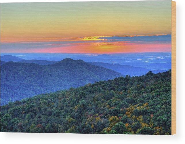 Scenics Wood Print featuring the photograph Blue Ridge Mountains by Nikographer [jon]
