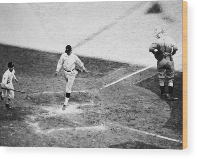 Number 7 Wood Print featuring the photograph Buckys Homerun by Apa